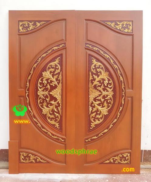 ประตูไม้สักบานคู่